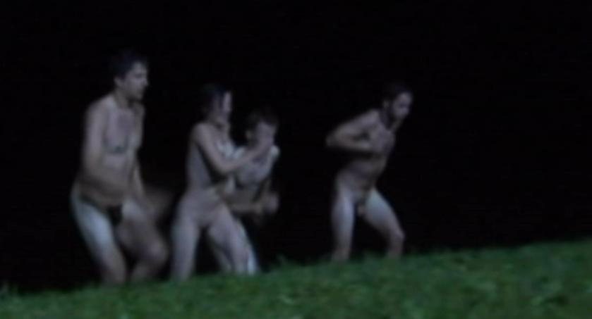 The girl then finds two naked people having sex and is approached by two ...