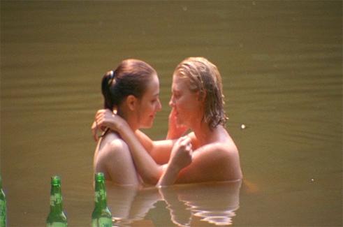 Teen lesbians camping