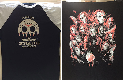 friday the 13th camp crystal lake t-shirt jason voorhees