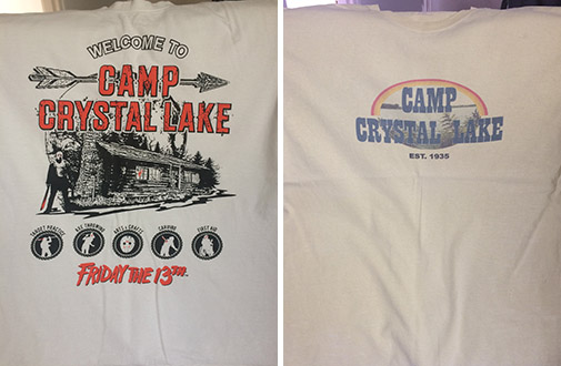 camp crystal lake t-shirts friday the 13th jason voorhees