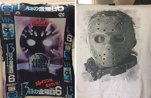 jason voorhees t-shirt friday the 13th part vi 6 jason x